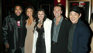Premiere: Anthony Anderson, Gabrielle Union, Kelly Hu, Mark Dacascos and Jet Li at the New York premiere of Warner Brothers' Cradle 2 The Grave - 2/24/2003