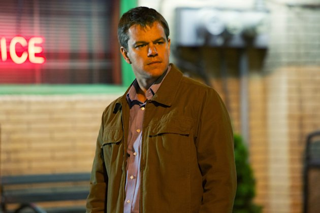 "This undated publicity film image provided by Focus Features shows Matt Damon starring as Steve Butler in Gus Van Sant's contemporary drama, ""Promised Land,"" a Focus Features release. (AP Photo/Focus Features, Scott Green)"