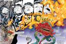 "This photo provided by DC Entertainment shows a two page spread from Vertigo's ""The Sandman: Overture Deluxe Edition,"" written by Neil Gaiman with art by J.H. Williams III. ""The idea of celebrating the 25th anniversary of Sandman with a comic was just too good to miss,"" Gaiman said in an interview with The Associated Press. (DC Entertainment via AP)"