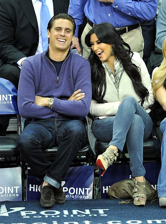 Disick Kardashian NJ Nets Game