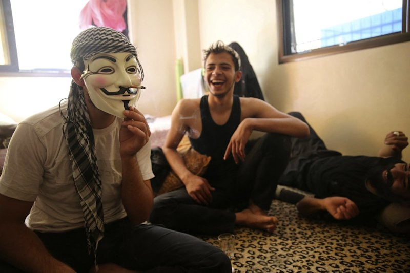 syria rebels guy fawkes
