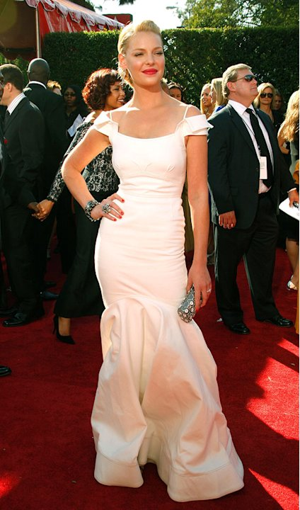 Katherine Heigl arrives at the 59th Annual Primetime Emmy Awards at the Shrine Auditorium on September 16, 2007 in Los Angeles, California.