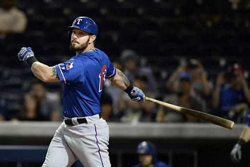 Long road back: Josh Hamilton is in lineup for Rangers