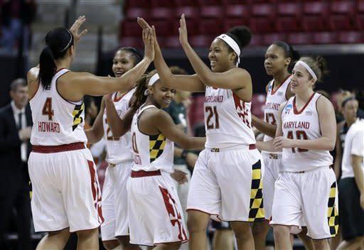 Maryland women beat Michigan State 74-49 in NCAAs