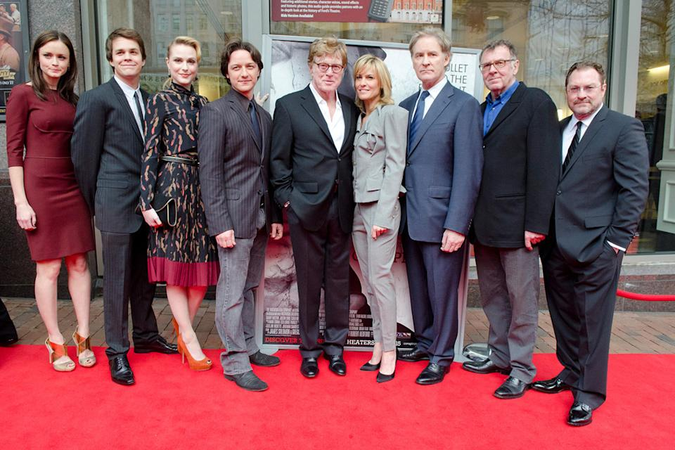 The Conspirator DC premiere 2011 Alexis Bledel Johnny SImmons Evan Rachel Wood James McAvoy Robert Redford Robin Wright Kevin Kline Tom Wilkinson...