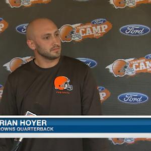 Brian Hoyer: 'It's my job until someone tells me otherwise'