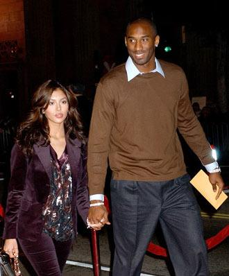 Kobe Bryant and wife Vanessa at the Hollywood premiere of Warner Bros. Alexander
