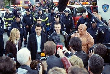 Jessica Alba , Ioan Gruffudd , Chris Evans and Michael Chiklis in 20th Century Fox's Fantastic Four