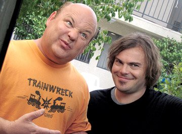 Kyle Gass and Jack Black in New Line's Tenacious D in: The Pick of Destiny