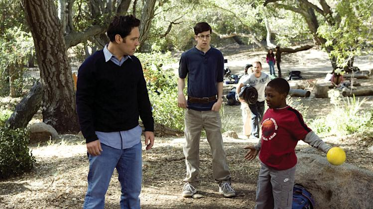 Paul Rudd Christopher Mintz-Plasse Bobb'e J. Thompson Role Models Production Stills Universal 2008
