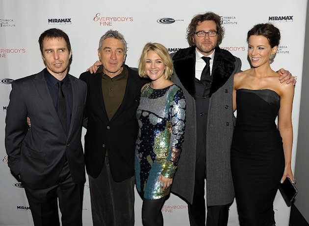 Everybody's Fine NY Premiere 2009 Sam Rockwell Robert DeNiro Drew Barrymore Kirk Jones Kate Beckinsale