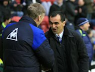 David Moyes (left) and Roberto Martinez