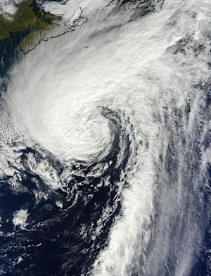 Satellite Sees Hurricane Merge With Cold Front