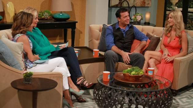 Romain Zago and Joanna Krupa sit down for an interview on Access Hollywood Live, July 12, 2013 -- Access Hollywood