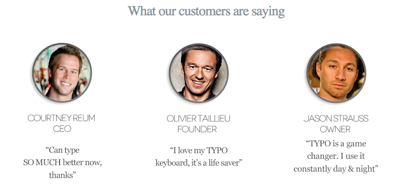 typo keyboard customer testimonials