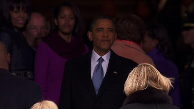 Obama takes in inauguration …