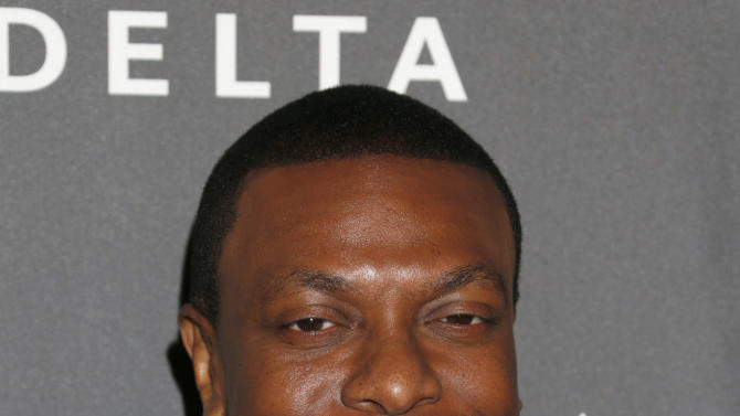 Chris Tucker arrives at a Celebration of LA's Music Industry at the Getty House on Thursday, Feb. 7, 2013 in Los Angeles. (Photo by Todd Williamson/Invision/AP)