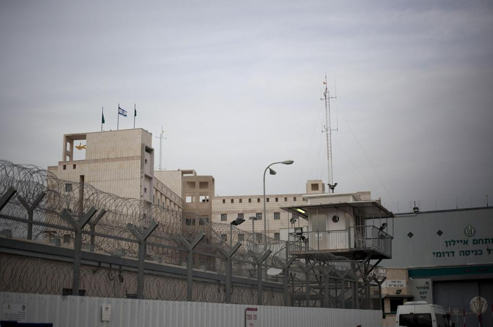 The Ayalon prison complex in Ramle, central Israel,Thursday, Feb. 14, 2013. An Australian-Israeli citizen who mysteriously died in prison after an apparent career in Israel's spy agency had denied the allegations against him and was considering a plea bargain just before he died, his lawyer said Thursday.(AP Photo/Ariel Schalit)