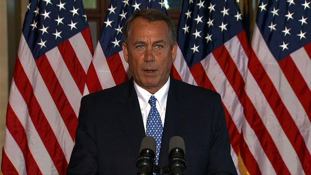 """Boehner: """"I didn't come here to shut down the government"""""""