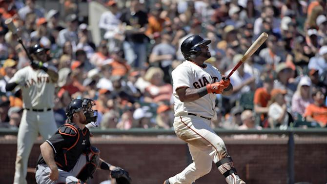Pablo Sandoval homers; Giants beat Marlins 4-1