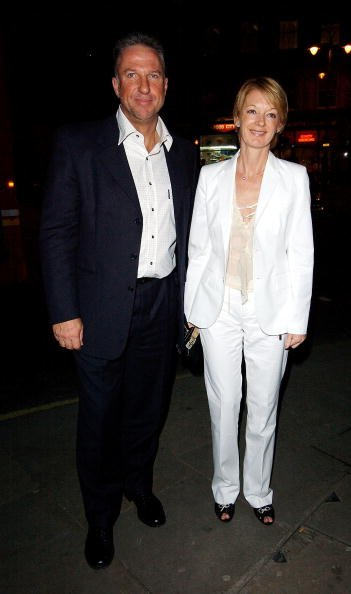 "LONDON - MARCH 9:  Former England cricketer Ian Botham and wife Kathryn attend the Book Launch Party for Piers Morgan's memoirs, entitled ""The Insider"", at Axis Restaurant on March 9, 2005 in London."