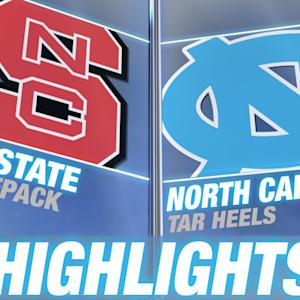 NC State vs North Carolina | 2014-15 ACC Men's Basketball Highlights