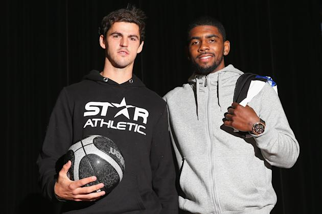 Collingwood Magpies Players Meet With Kyrie Irving