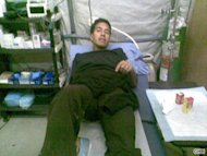 Dr. Sanjay Gupta getting treated for Swine Flu in Afghanistan