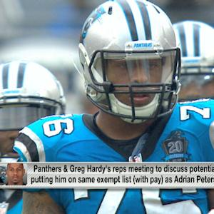 Hardy's reps, Panthers meeting on potential punishment