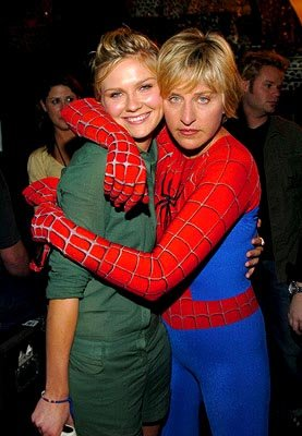 Kirsten Dunst and Ellen DeGeneres MTV Movie Awards - 6/5/2004