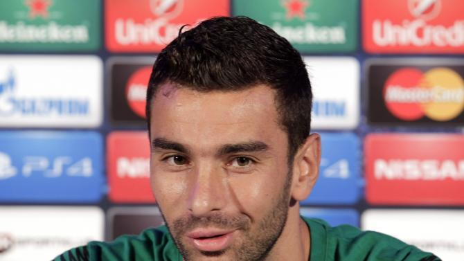 Sporting's goalkeeper Rui Patricio speaks during a news conference on the eve of their Champions League Group G soccer match against NK Maribor at the stadium in Maribor