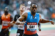 "US athlete Tyson Gay competes in the 100m event of the IAAF Diamond League athletics Areva meeting on Friday at the Stade de France in Saint-Denis, a suburb of Paris. The men's 100m at the London Olympics is wide open and promises to be ""spectacular"", according to Gay, the world's second fastest man"