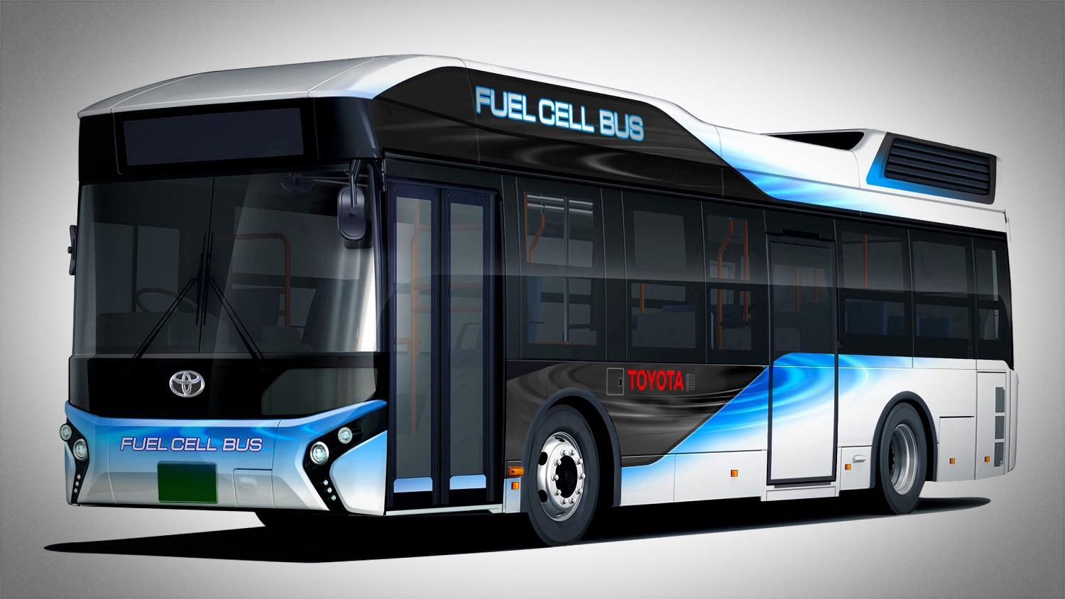Futuristic tech is not just for cars: Toyota will launch a fuel-cell bus in Japan next year
