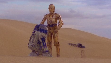R2-D2 and C-3PO cause a stir in the deserts of Tunisia...