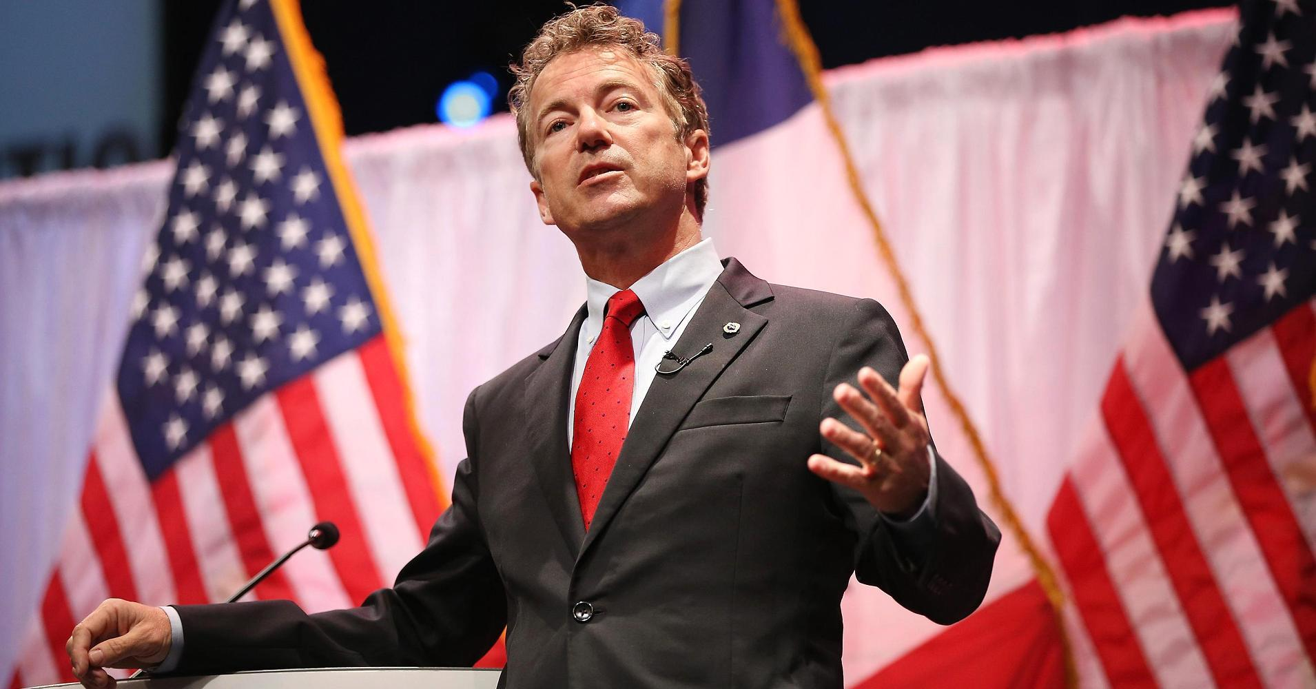 For a moment, Rand Paul gets back to his basics