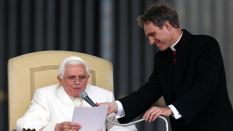 Georg Ganswein and Pope Benedict XVI
