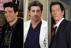 Josh Radnor, Patrick Dempsey, Kevin Bacon | Photo Credits: Monty Brinton/CBS; Ron Tom/ABC; Sarah Shatz/FOX