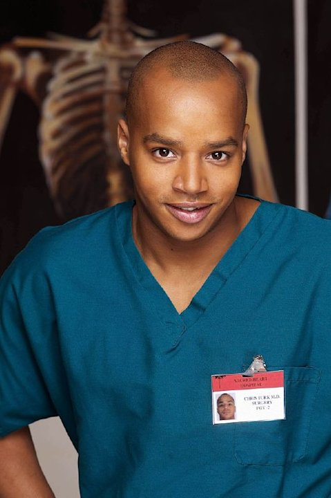 Donald Faison as Dr. Chris Turke on NBC's Scrubs.