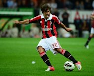 AC Milan's forward Krkic Perez Bojan controls the ball during their Italian Serie A football match against Atalanta at San Siro stadium in Milan. AC Milan warmed up for their Champions League group opener against Anderlecht on Tuesday by suffering a shock 1-0 home defeat to Serie A strugglers Atalanta