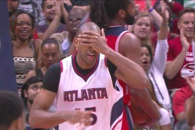 Al Horford plays hide and seek on this celebration
