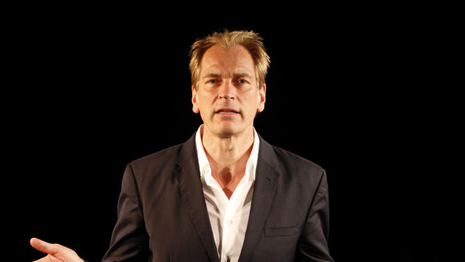 "This theater image released by Shirley Herz & Associates shows Julian Sands in ""A Celebration of Harold Pinter,"" directed by John Malkovich, currently performing off-Broadway at the Irish Repertory Theatre in New York.  (AP Photo/Shirley Herz & Associates; Carol Rosegg)"