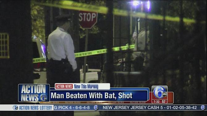 Man struck with baseball bat and shot in Queen Village