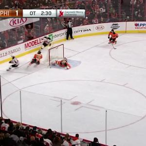 Neuvirth's terrific save in OT