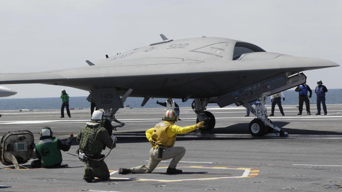 Navy launches unmanned aircraft from carrier