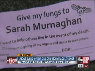 After social media campaign, judge rules girl, 10, can get adult lung transplant