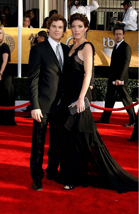 Michael C. Hall and Jennifer Carpenter arrives at the 15th Annual Screen Actors Guild Awards held at the Shrine Auditorium on January 25, 2009 in Los Angeles, California.