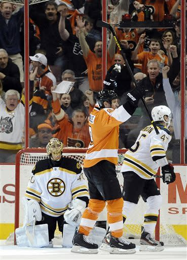 Flyers beat Bruins 3-1 to snap 4-game skid
