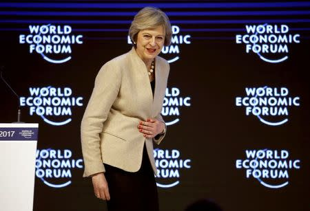 In Davos, PM May unveils vision for global Britain post-Brexit