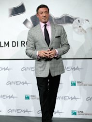 "Actor Sylvester Stallone poses during the photo call of the movie ""Bullet to the Head"" at the 7th edition of the Rome International Film Festival in Rome, Wednesday, Nov. 14, 2012. (AP Photo/Andrew Medichini)"