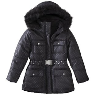 Black Hooded Puffer Jacket, $32.99